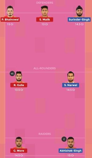 U Mumba vs Gujarat Fortunegiants Dream11 Team 1 Match 22 Pro Kabaddi 2019