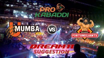 U Mumba vs Gujarat Fortunegiants Dream11 Team Match 22 Pro Kabaddi 2019