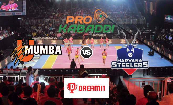 U Mumba vs Haryana Steelers Dream11 Team Match 49 Pro Kabaddi 2019