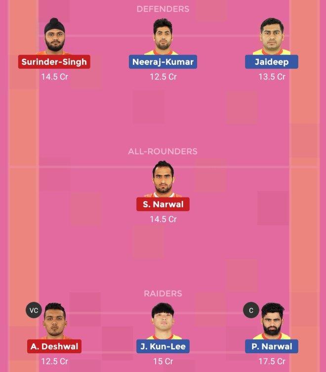 U Mumba vs Patna Pirates Dream11 Team 1 Match 43 Pro Kabaddi 2019