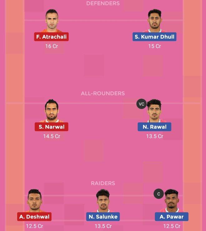 UP Yoddha vs Bengal Warriors Dream11 Team Prediction Match 69 Pro Kabaddi 2019
