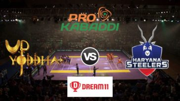 UP Yoddha vs Haryana Steelers Dream11 Team Match 40 Pro Kabaddi 2019