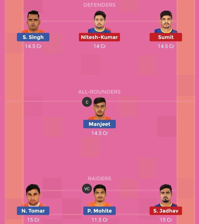 UP Yoddha vs Puneri Paltan Dream11 Team Prediction 1 Match 61 Pro Kabaddi 2019