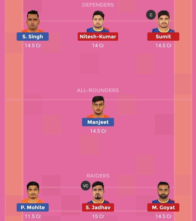 UP Yoddha vs Puneri Paltan Dream11 Team Prediction 2 Match 61 Pro Kabaddi 2019