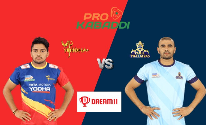 UP Yoddha vs Tamil Thalaivas Dream11 Team Match 29 Pro Kabaddi 2019
