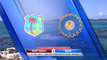 VIDEO Highlights WI vs IND 1st Test Day 2 India Tour of West Indies 2019