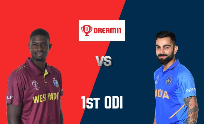 WI vs IND Dream11 Team 1st ODI India Tour of West Indies 2019