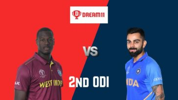 WI vs IND Dream11 Team 2nd ODI India Tour of West Indies 2019