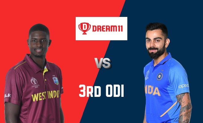WI vs IND Dream11 Team 3rd ODI India Tour of West Indies 2019