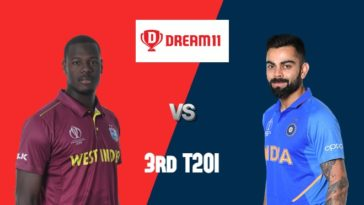 WI vs IND Dream11 Team 3rd T20I India Tour of West Indies 2019