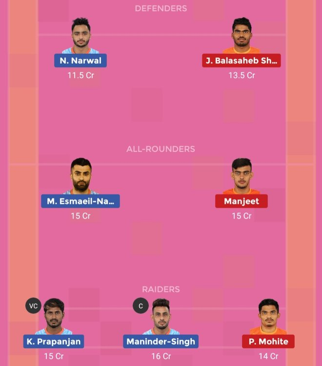 Bengal Warriors vs Puneri Paltan Dream11 Team Prediction Match 81 Pro Kabaddi 2019