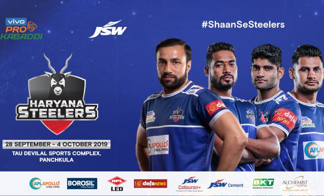 Haryana Steelers Panchkula Pro Kabaddi 2019 Ticket Booking