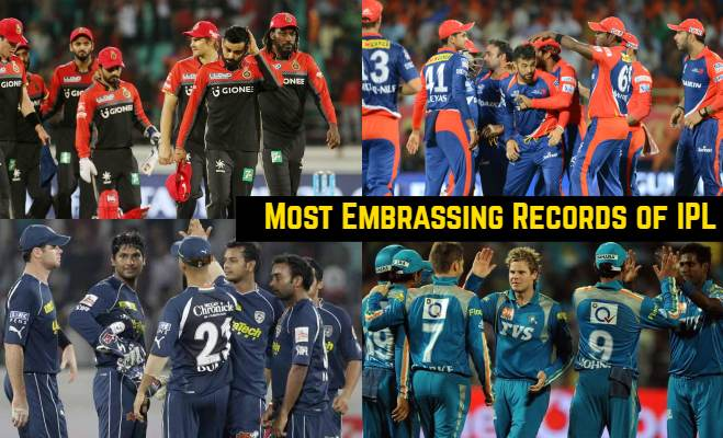 Most Embarrassing Records by an IPL Teams