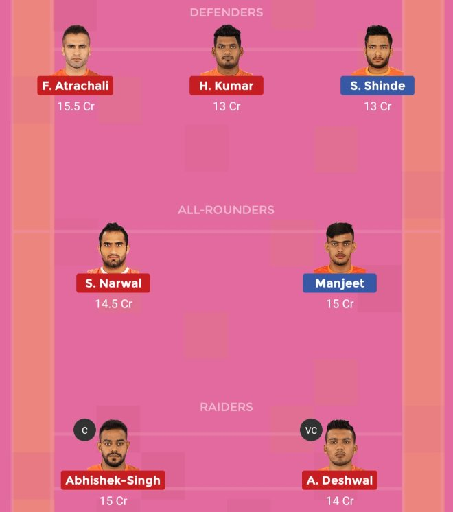 Puneri Paltan vs U Mumba Dream11 Team Prediction Match 75 Pro Kabaddi 2019