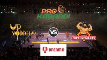 UP Yoddha vs Gujarat Fortunegiants Dream11 Team Prediction Match 82 Pro Kabaddi 2019