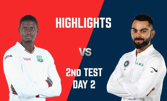 VIDEO Highlights WI vs IND 2nd Test Day 2 India Tour of West Indies 2019