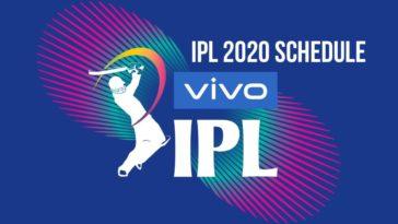 IPL 2020 Schedule IPL 2020 Fixtures IPL 2020 Timetable