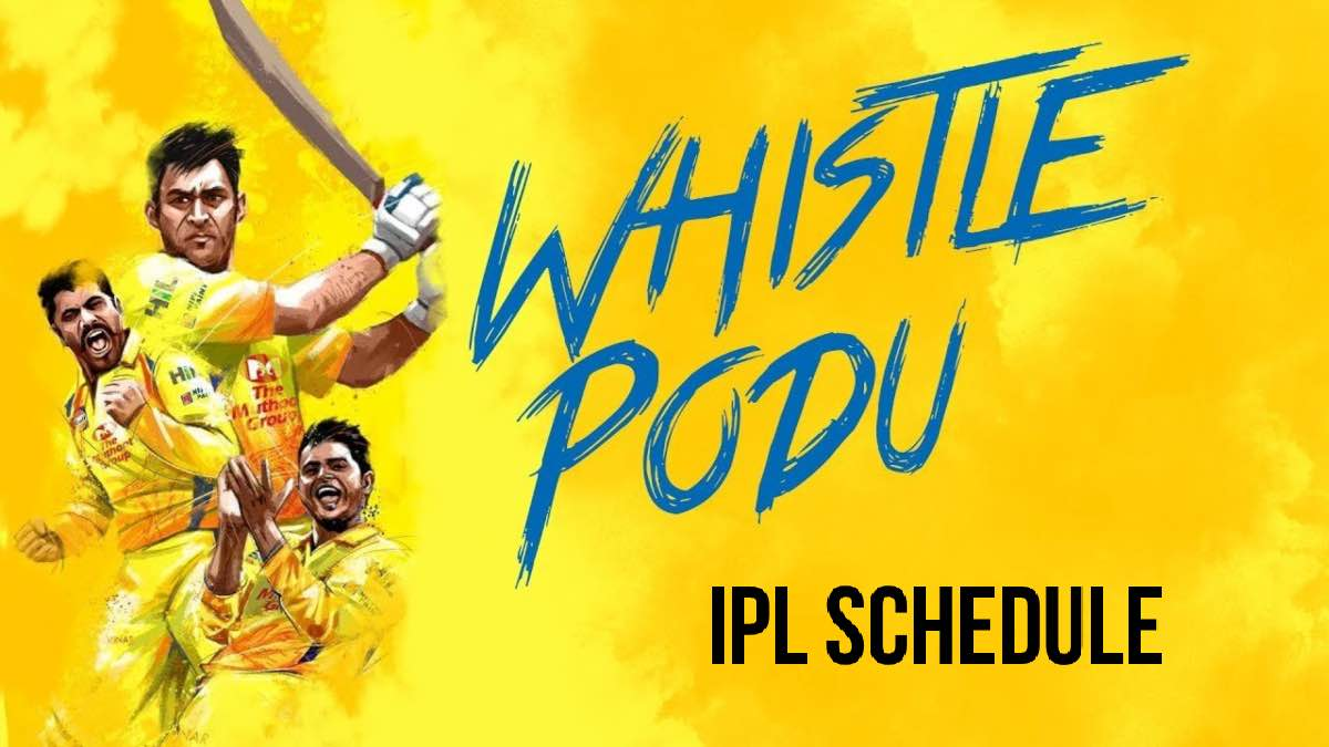 Chennai Super Kings CSK IPL 2020 Schedule