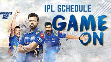 IPL Mumbai Indians MI Full Schedule