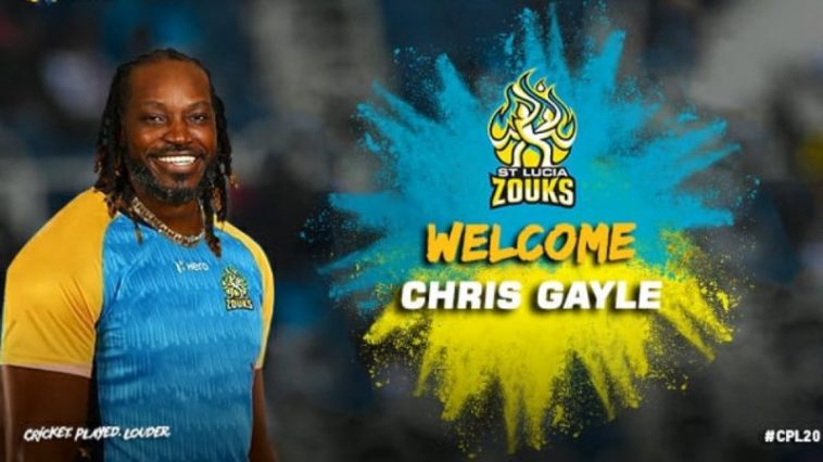 Chris Gayle joins St Lucia Zouks for CPL 2020 after released by Jamaica Tallawahs