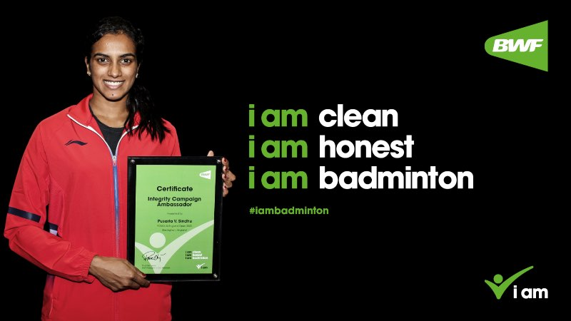 "PV Sindhu named as BWF ambassador for ""i am badminton"" awareness campaign"