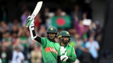 Shakib Al Hasan's 2019 World Cup bat raises £19,000 from the auction