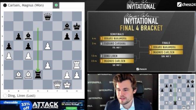 Carlsen beats Ding Liren In the MCI second semifinal