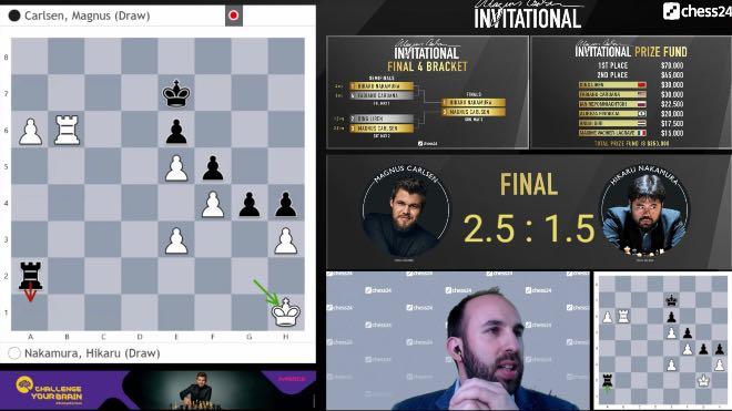Magnus Carlsen beats Hikaru Nakamura in the finals