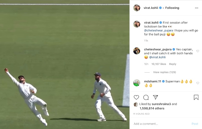 Pujara stills the show with a witty response to Virat Kohli dig