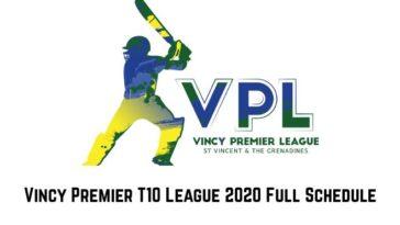 Vincy Premier T10 League 2020 Full Schedule: VPL T10 2020