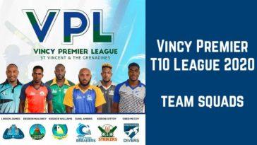 Vincy Premier T10 League 2020 team squads and team players list: VPL T10 2020
