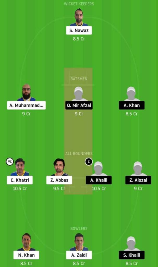 Bronze final KCC vs ALZ dream11 team prediction, playing xi, top picks, captain and vice-captain