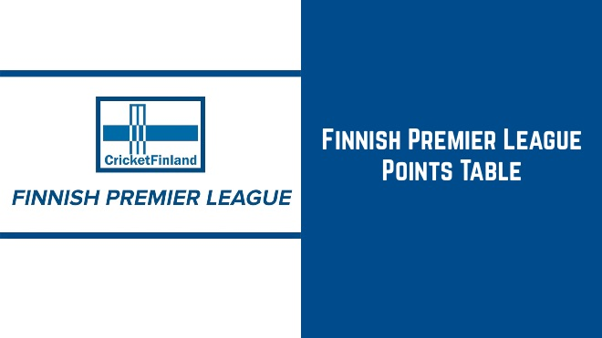 Finnish Premier League T20 2020 Points Table and Standings