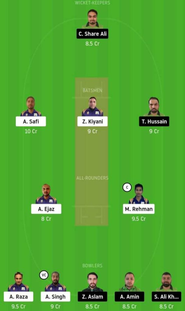 Match 12 SIG vs PF dream11 team prediction, playing xi, top picks, captain and vice-captain