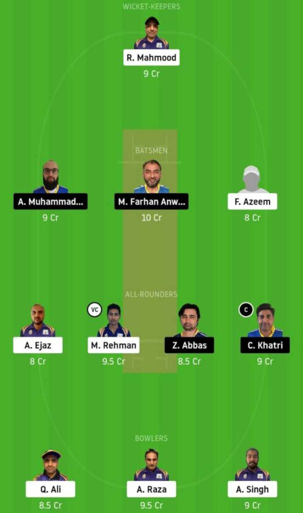 Match 19 SIG vs KCC dream11 team prediction, playing xi, top picks, captain and vice-captain