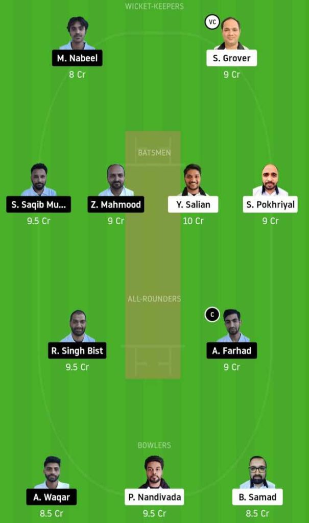 Match 2 PBVI vs BCC dream11 team prediction, playing xi, top picks, captain and vice-captain