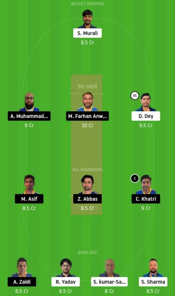 Match 21 IND vs KCC dream11 team prediction, playing xi, top picks, captain and vice-captain