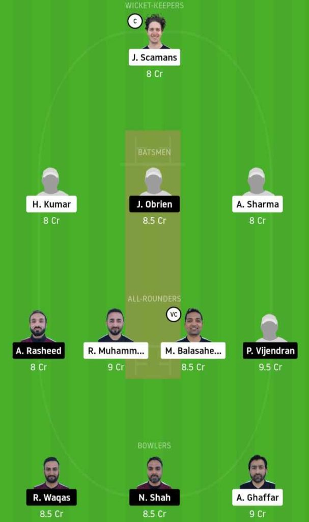 Match 3 ECC vs SKK Dream11 Team Prediction, Playing XI, Top Picks, Captain and Vice-captain