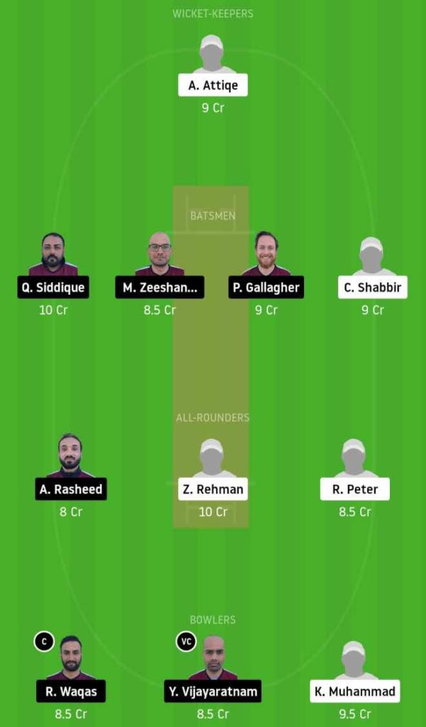 Match 5 GHC vs SKK Dream11 Team Prediction, Playing XI, Top Picks, Captain and Vice-captain