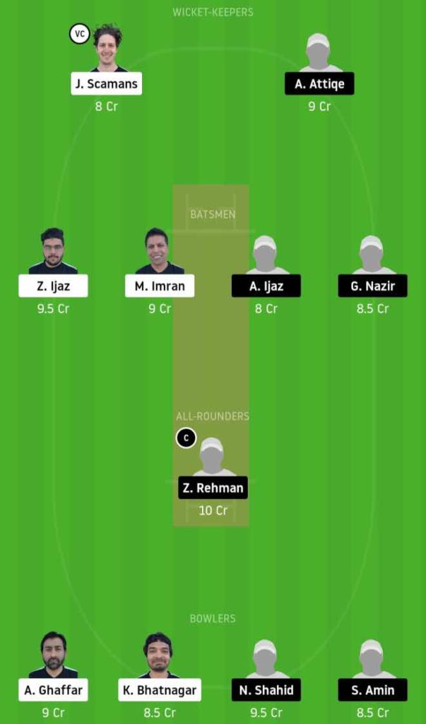 Match 7 ECC vs GHC dream11 team prediction, playing xi, top picks, captain and vice-captain