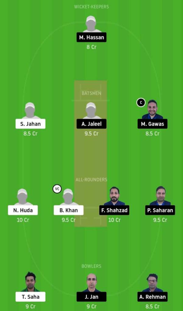 Match 9 BTC vs GHG dream11 team prediction, playing xi, top picks, captain and vice-captain
