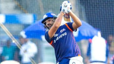 Mumbai Indians captain Rohit Sharma resumes outdoor training, shares pic