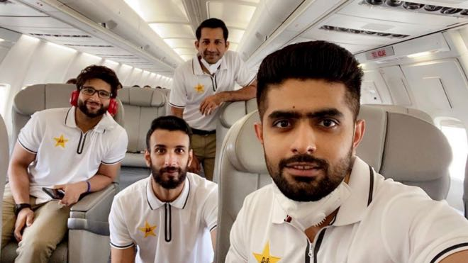 Pakistan Cricket Team leave for Manchester for their England tour