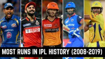 Most runs in IPL history (2008-2019): List of highest run scorers in IPL