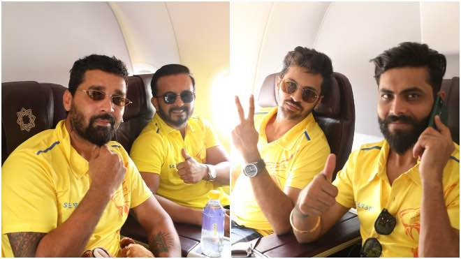 Chennai Super Kings in a charted flight to UAE