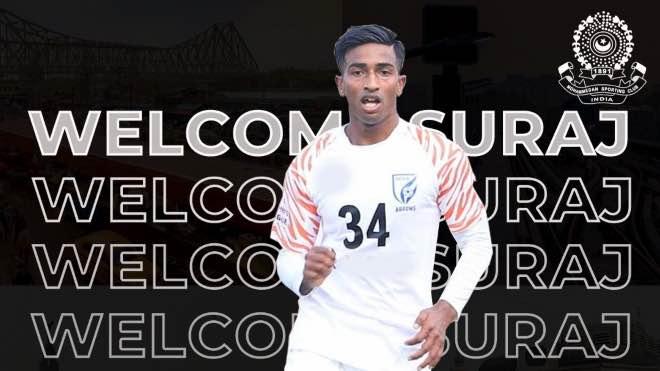 Mohammedan Sporting sign Suraj Rawat