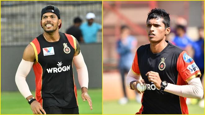 Umesh Yadav and Navdeep Saini training in Dubai