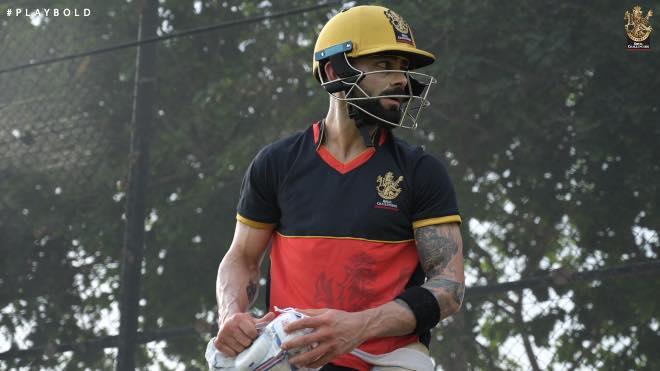Virat Kohli at training session in Dubai