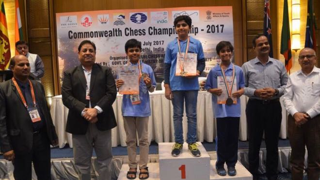 Bhavik won bronze medal in the Commonwealth Chess Championship 2017