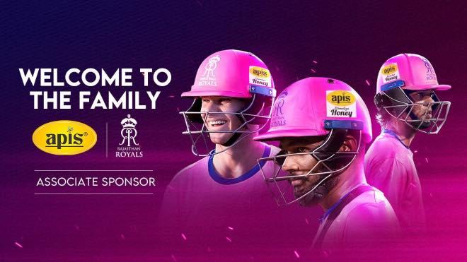 IPL 2020: Rajasthan Royals partner with APIS Honey as an associate sponsor